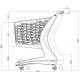 Wózek sklepowy MINI 80L Basic
