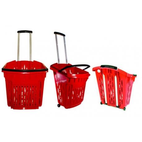 Koszyk zakupowy 38 l na kółkach